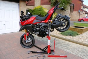 abba Sky Lift on Ducati Multistrada 1200 (Stoppie position)