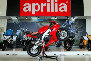 Aprilia RSV4 on abba Sky Lift (wheelie position)