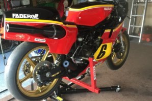 Steve Parish's Suzuki race bike on abba Sky Lift