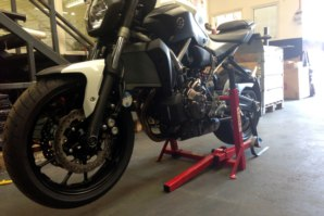 Yamaha MT07 on abba paddock stand